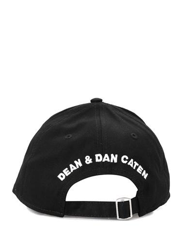 Dsquared2 Dsquared2  Patchli Yazı Nakışlı Erkek Şapka 101622820 Siyah